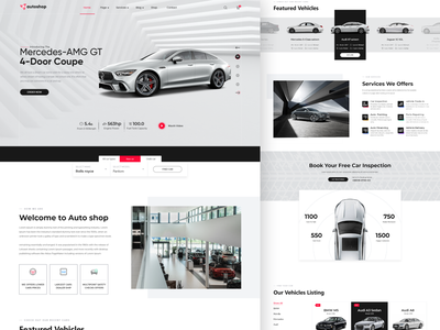AutoShop - Home page interaction user experience userinterface webdesign car online store ecommerce web designer home page interface branding landing page typography app design website web design uiux uidesign web ui