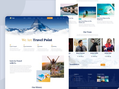 Viaje - About Page about page web designer design user experience userinterface uxui about aboutus homepage landing page ui website web design web