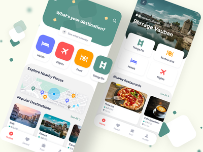 Travel service - Mobile App branding travel agency mobile app ux minimal flat design animation illustraion vector mobile design trip planner travel app icon design ui trip travel