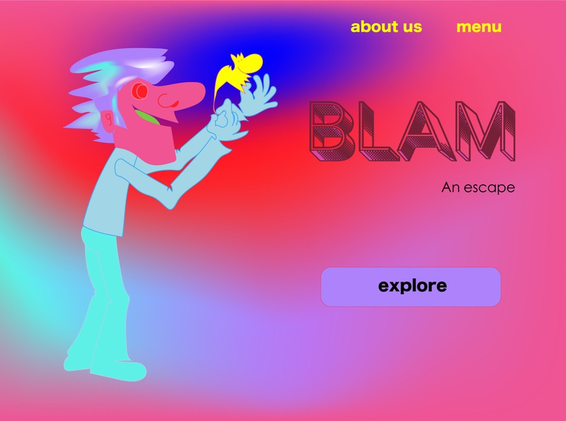 Daily UI Day 003: Landing Page illustration art abstract typography landing page cartoon vector illustration illustrator design dailyuichallenge dailyui