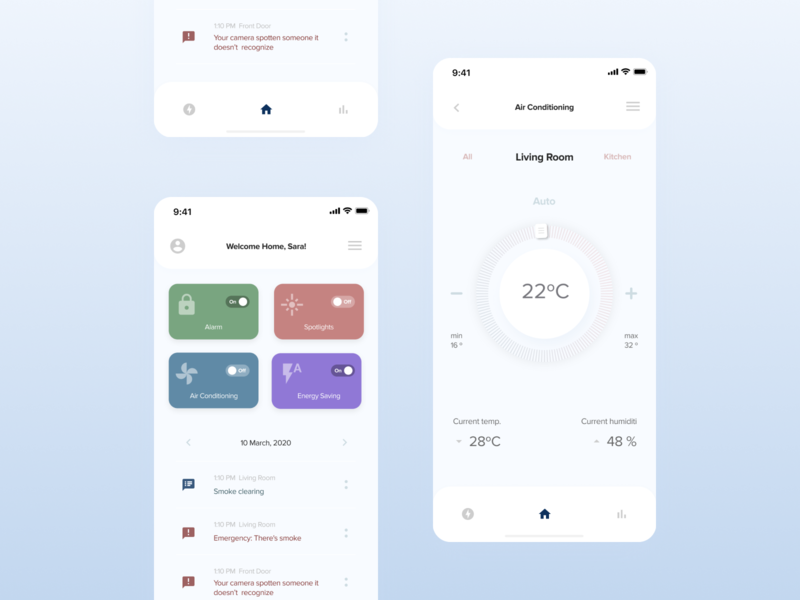 Smart Home figmadesign figma design ux ui app smarthome mobile design visual design ux design ui design app design