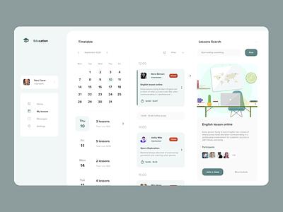 Online Education Platform figma design education figmadesign web app web design app design visual design ux design ux ui design ui figma