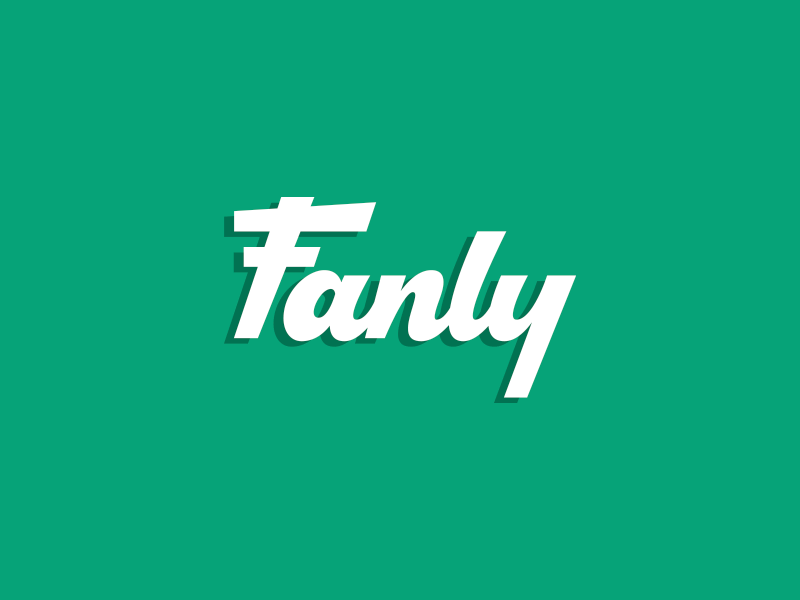 Fanly type logo hand lettering sports script typography lettering letters custom