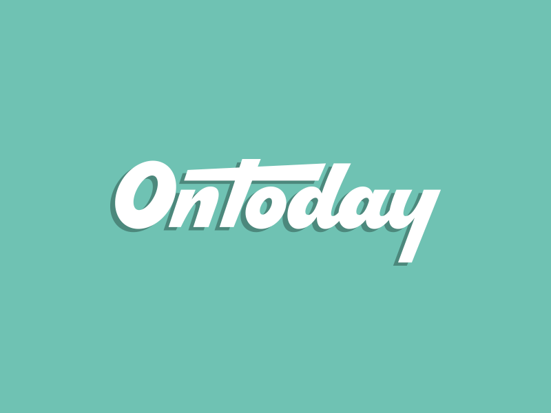 OnToday logotype typography custom hand lettering type script word mark logo lettering