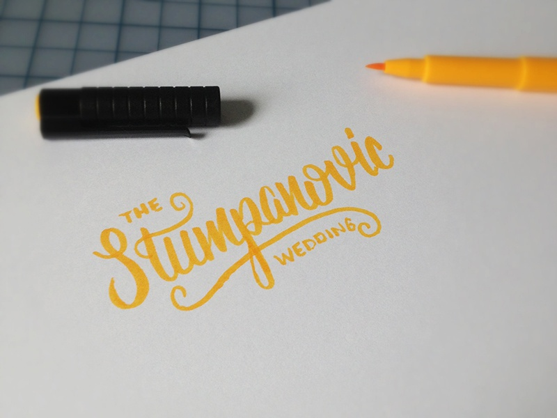 Stumpanovic Sketch brush type wedding typography script sketch hand lettering lettering custom