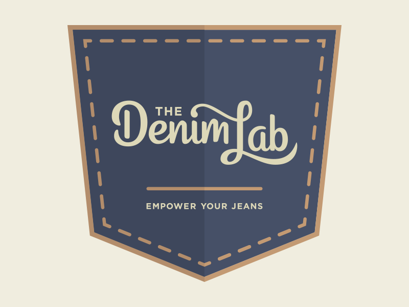 The Denim Lab hand lettering lettering pocket logotype script logo denim