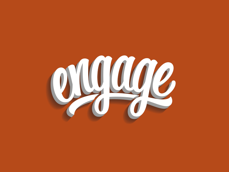 Engage lettering hand lettering logo logotype