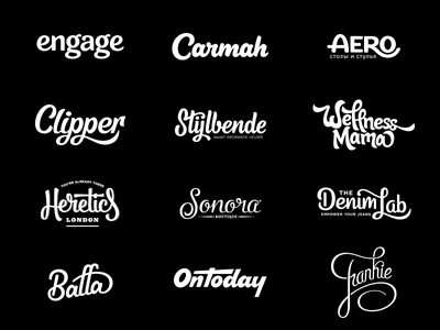 Hand Lettered Logotypes typography type logo logotype lettering hand lettering