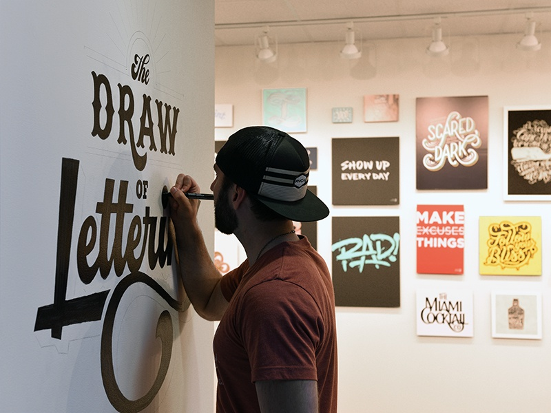 The draw of lettering mural by colin tierney dribbble for Mural lettering