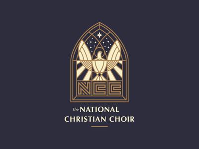 The National Christian Choir choir dove christian illustration logo