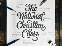 The National Christian Choir Lettering
