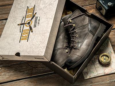 Aeroglide Branding typography type explore shoes vintage logo branding identity