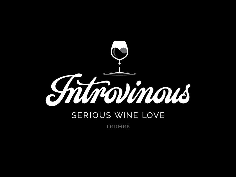 Introvinous splash heart wine hand lettering lettering logotype logo