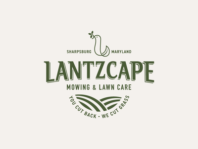 Lantzcape leaf bird landscape typography type hand lettering lettering logotype logo l