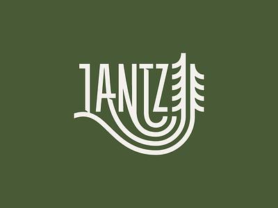 Lantzcape tree field grass landscape illustration hand lettering lettering typography type logotype logo