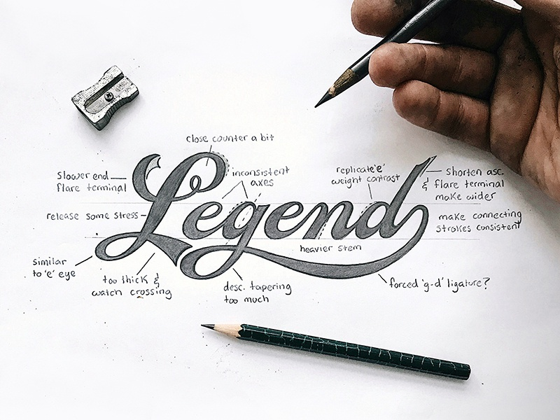 learn hand lettering legend by colin tierney dribbble dribbble 13910 | legend sketch dribbble