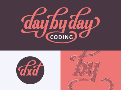 Day By Day Coding process monogram coding typography type logotype logo hand lettering lettering