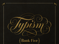 Typism logotype book announcement