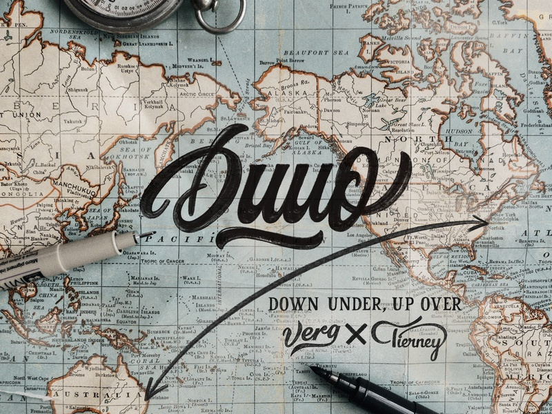 Down Under, Up Over crayligraphy workshops los angeles new york brush calligraphy logotype script type typography logo hand lettering lettering