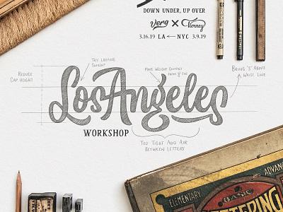 Los Angeles Workshop losangeles new york workshop branding custom design wordmark identity brush calligraphy logotype script type typography logo hand lettering lettering