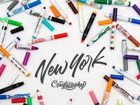 Crayligraphy workshops new york v1 dribbble
