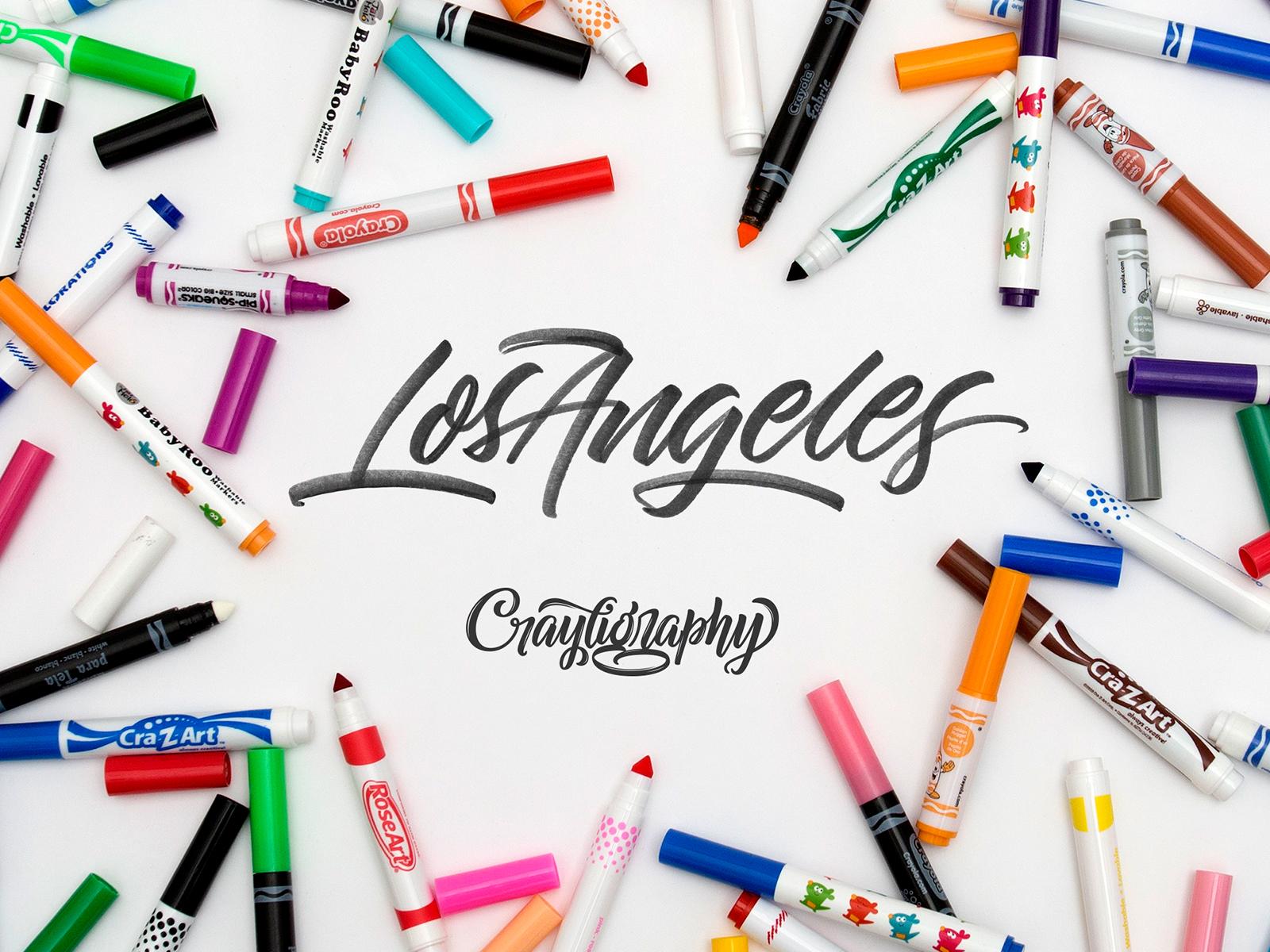 Crayligraphy workshops los angeles v1 dribbble