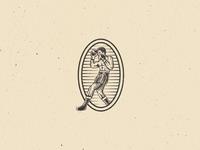 The Boxer logomark boxer branding identity logo mark antique vintage engraving illustration icon boxing