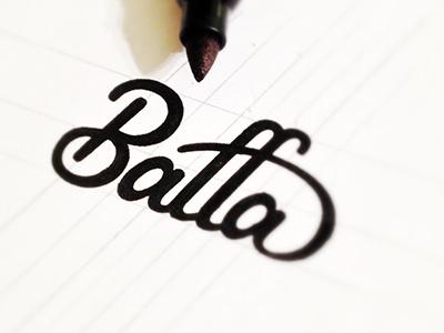 Baffa Sketch logo type typography script logotype wordmark lettering hand lettering