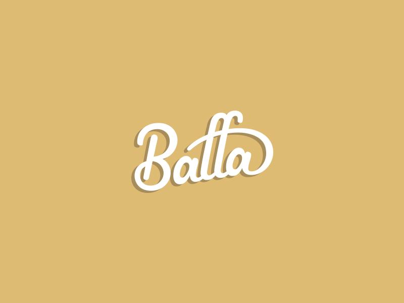 Baffa script typography wordmark logotype logo lettering letters type hand lettering identity