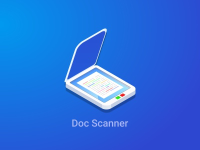 Document Scanner App Icon application application design icon design appstore product branding appstore app design vector branding icon app logo illustration