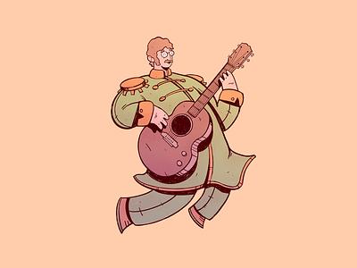 John Lennon music rock guitar drawing john lennon the beatles art cartoon character design illustration cartoon character