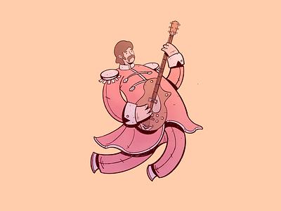 George Harrison characterdesign rock and roll george harrison the beatles drawing cartoon art character design illustration cartoon character