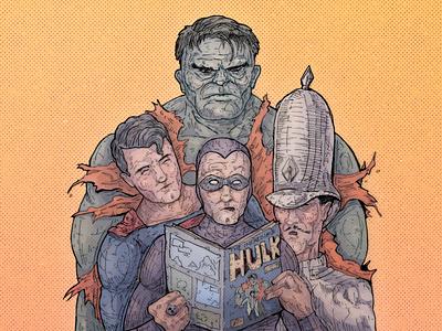 The Incredible Hulk dc comics dc marvel major gruber moebius pop art comic art comics comicbooks vintage comics the phantom hulk superman