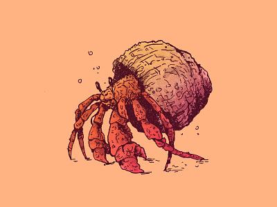 INKTOBER DAY 26: HIDE inktober 2020 drawing cartoon character design cartoon character art illustration ink cangrejo ermitaño cangrejo crab hermit crab inktober2020 inktober