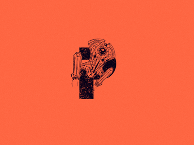 P for parsec millennium falcon starwars ship starship parsec design type logo 36daysoftype 36 days of type drawing character design art illustration