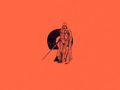 Number 9 and Darth Vader darthvader scifi starwars cartoon design type logo drawing 36daysoftype 36 days of type character design art illustration