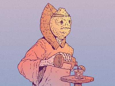 INKTOBER DAY 11: SOUR inktober 2021 tequila drink sour lemon cartoon character drawing art character design illustration