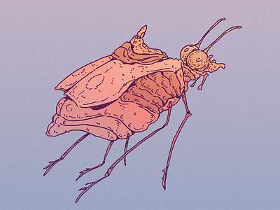 INKTOBER DAY 13: TICK inks inktober 2021 moebius insect tick bug design cartoon character inktober drawing character design art illustration