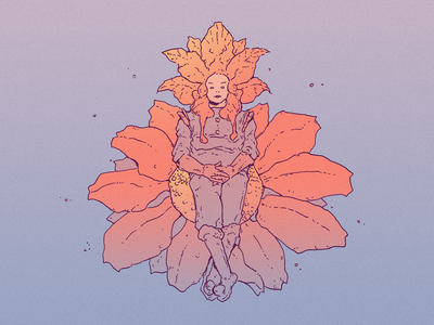 INKTOBER DAY 20: COMPASS inktober 2021 queen flower sprout design inktober drawing character design art illustration
