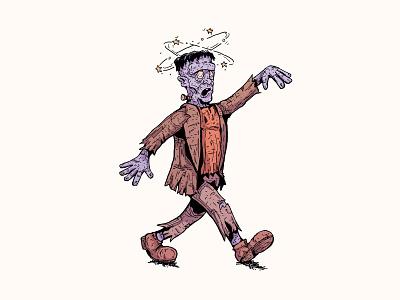 Dizzy halloween monster frankenstein monster frankenstein cartoon inktober 2019 art illustration character design cartoon character inktober