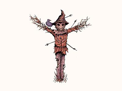 Injured monster halloween cartoon art inktober 2019 illustration character design cartoon character inktober injured scarecrow