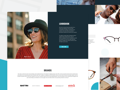 Battin Eyecare: Lookbook website interface design lookbook marketing ui ux sunglasses glasses optical eyecare battin mrsmith venture solution engineering visual development experience branding