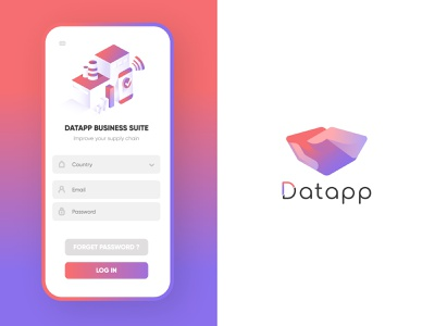 🧠 Datapp Business 🌐 uidesign ux pwa mobile design mobile app supply chain workshop isometric design branding illustration isometric uxdesign ui