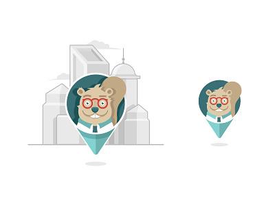  Brain-Store 🤖 mobile design beaver mascotlogo logodesign