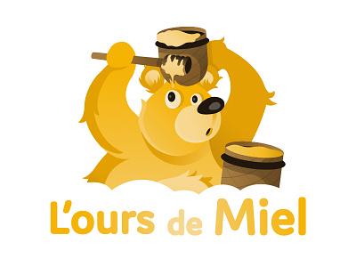 🍯 The Honey Bear 🧸 branding honey bear mascotlogo logodesign