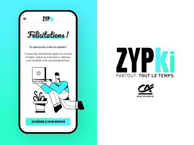 💶 Zypki 💎 french android ios hub b2c pwa mobileapp uxdesign uidesign uiux ui bank