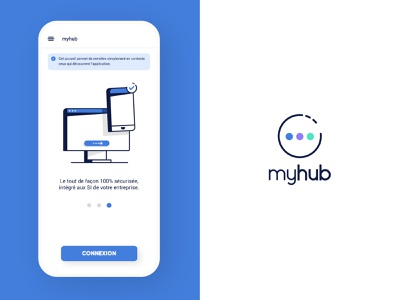 🖲️myhub 💾 ux uiux ui tutorial authentication app design app mobile design app design icon illustration b2c b2b hub myhub