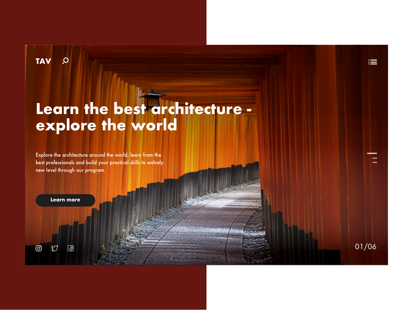 Architecture learning website concept landing landingpage learning website architecture uidesigns ux uxui ui