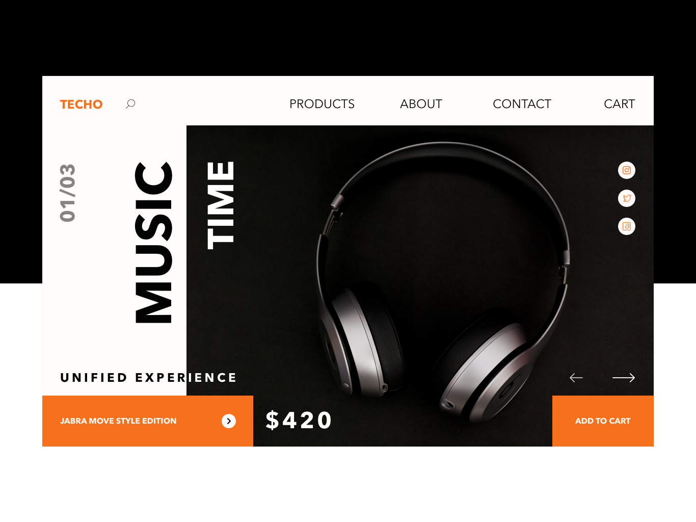 Headphones Site Concept technology landingpage landing website web uidesign uiux ux concept ui