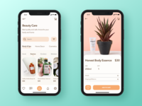 App design concept for care products.
